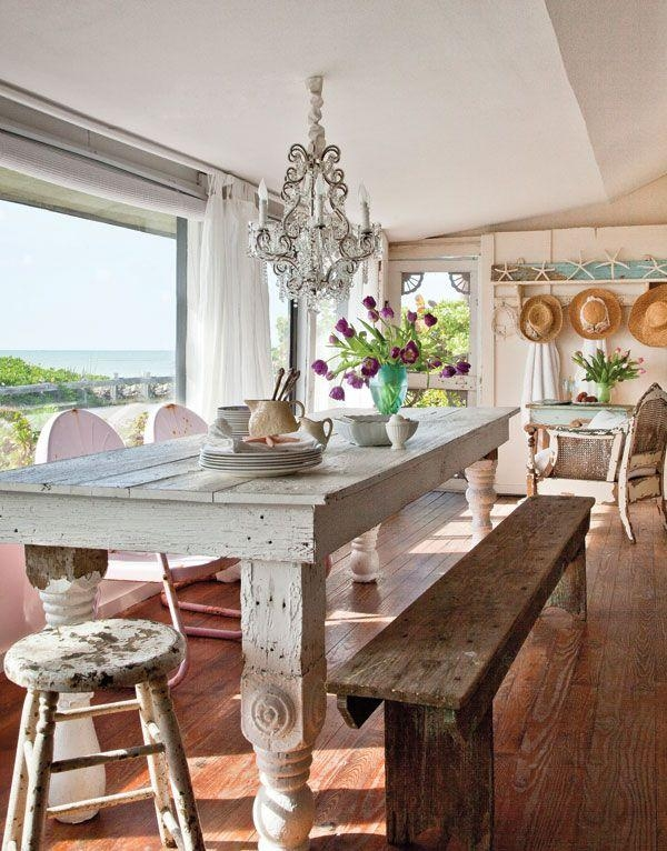 Dining Room Coastal Dining Room Table On Dining Room With Beach In Coastal Dining Tables (Image 13 of 20)