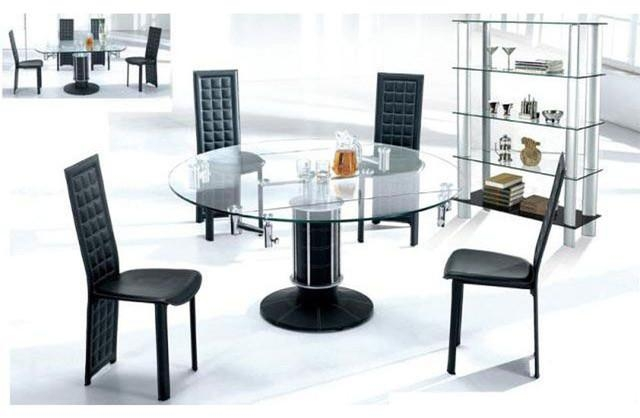 Dining Room : Expandable Glass Dining Room Tables Glass Extendable Intended For Glass Folding Dining Tables (Image 5 of 20)