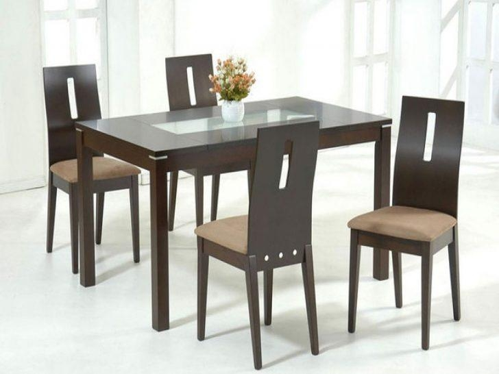 Dining Room ~ Glass Dining Tables For Small Spaces Wood Regarding Wooden Glass Dining Tables (Image 6 of 20)