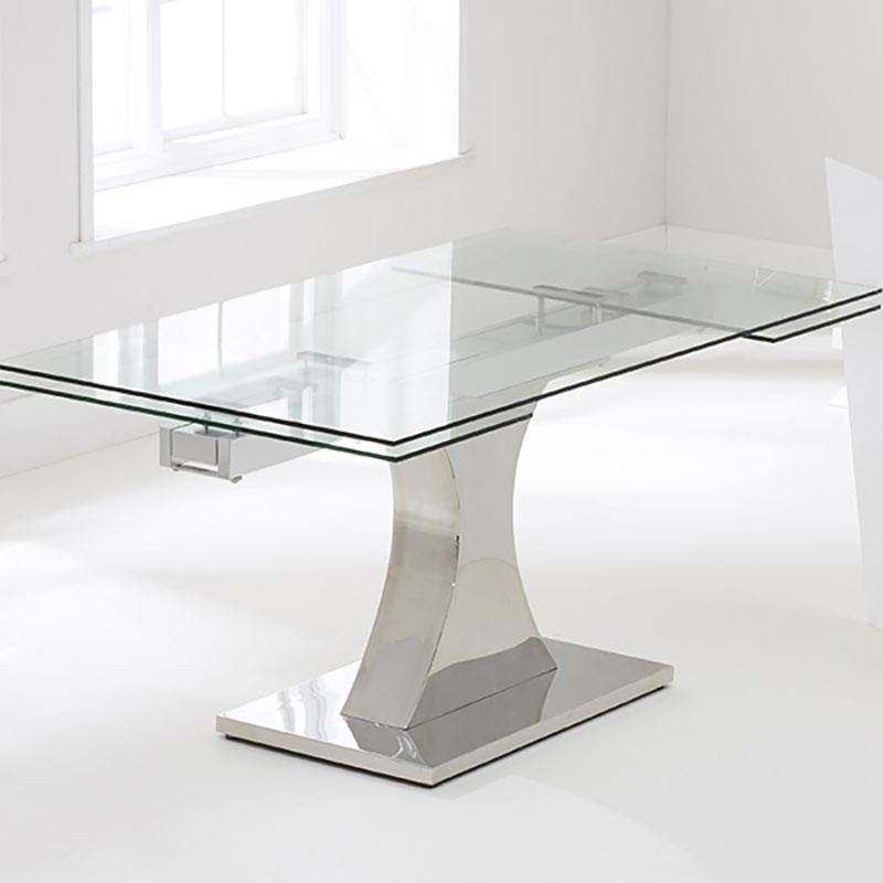 Dining Room: Glass Extendable Dining Table | Home Interior Design In Glass Extending Dining Tables (Image 3 of 20)