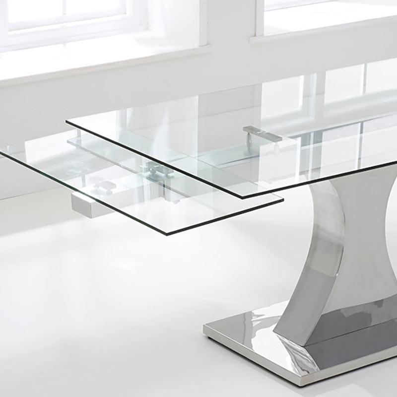 Dining Room: Glass Extendable Dining Table | Home Interior Design With Regard To Glass Folding Dining Tables (Image 6 of 20)