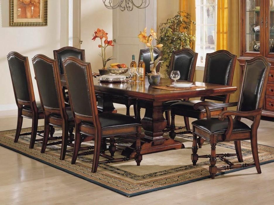 Dining Room Inspiring Dining Room Design With Formal Rectangular Throughout Mahogany Dining Tables Sets (Image 7 of 20)
