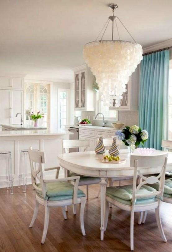 Dining Room: Interesting Coastal Dining Rooms With Marble Dining Within Coastal Dining Tables (Image 15 of 20)