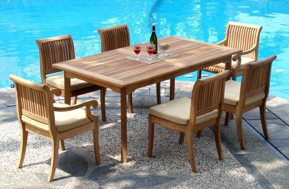 Dining Room Outdoor Dining Table For 6 On Dining Room Regarding In Outdoor Dining Table And Chairs Sets (Image 7 of 20)