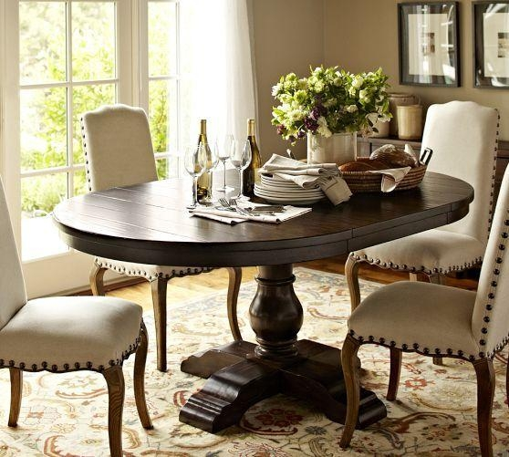 Dining Room Pedestal Tables For Sale Decor Double Table Round Oak Regarding Oval Dining Tables For Sale (Image 9 of 20)