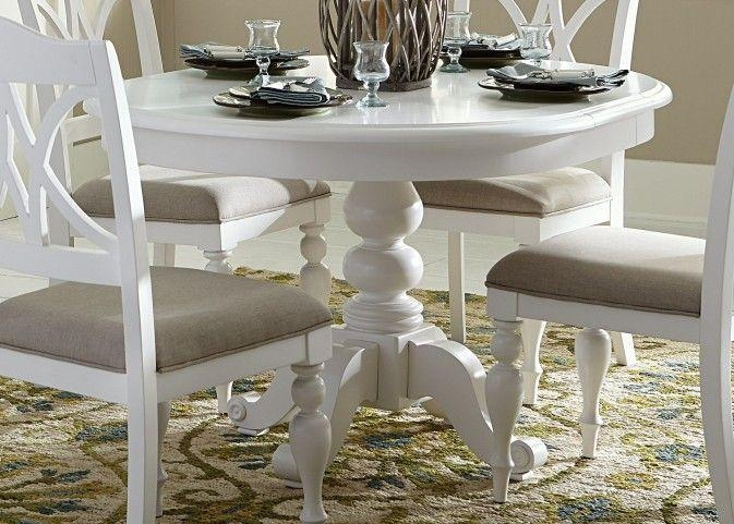 Dining Room Round White Dining Table On Dining Room And Avalon 45 For White Circular Dining Tables (Image 6 of 20)
