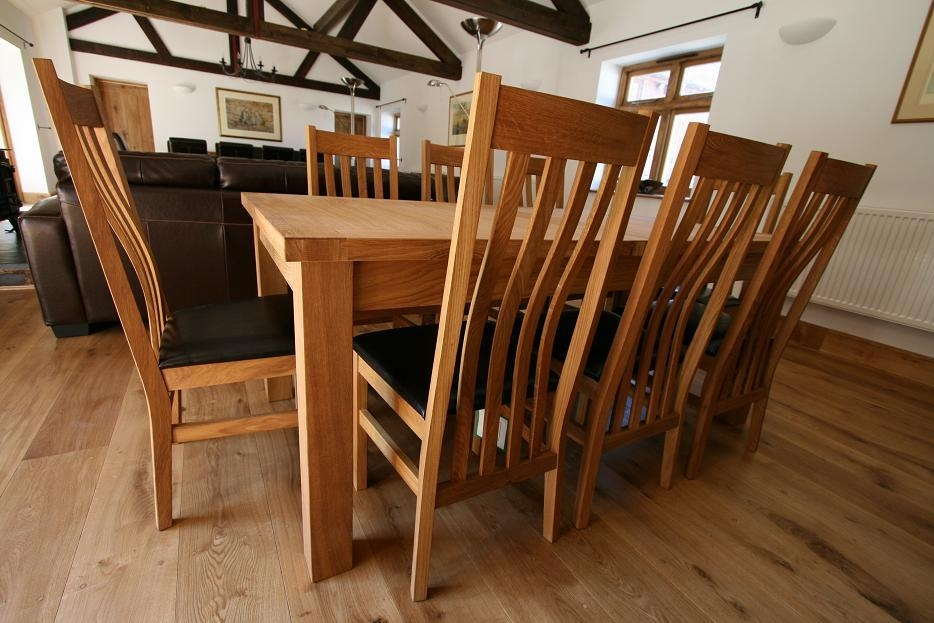 Dining Room Sets 8 Seats Dining Room Set 8 Seat Round Oak Table For 8 Seater Oak Dining Tables (View 4 of 20)
