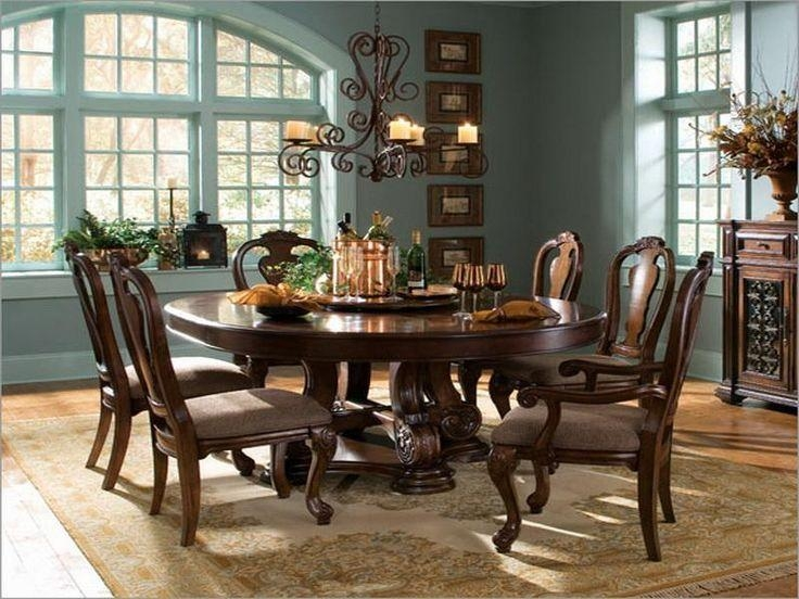 Dining Room Sets Round Table With Regard To 6 Person Round Dining Tables (Image 8 of 20)