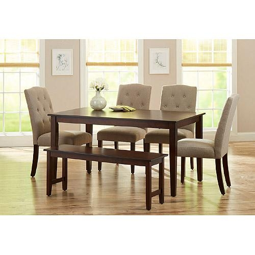 Dining Room Sets – Walmart With Regard To 6 Chair Dining Table Sets (Image 7 of 20)