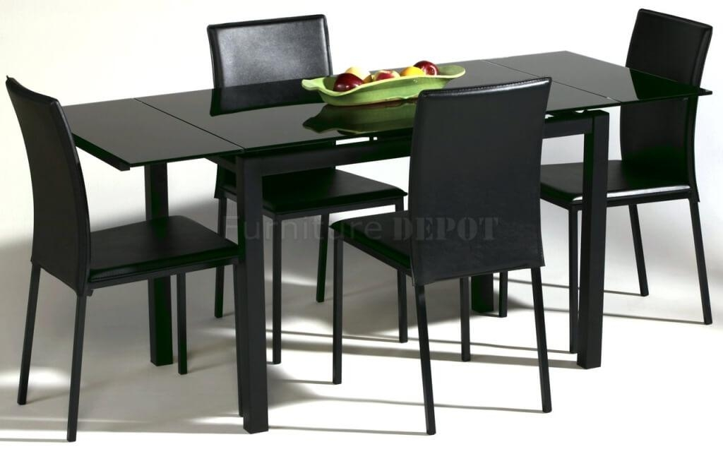 Dining Room: Simple And Minimalist Black Dining Room Sets With Regarding Sleek Dining Tables (Image 7 of 20)