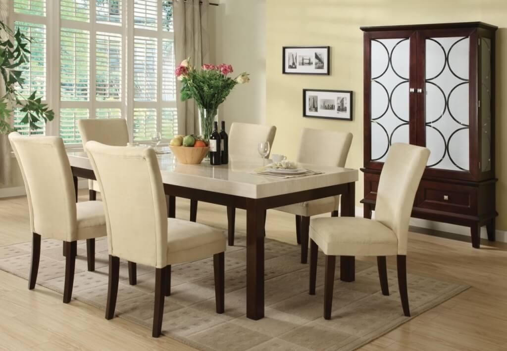 Dining Room: Sleek Traditional White Rectangle Dining Table With For Rectangular Dining Tables Sets (View 9 of 20)