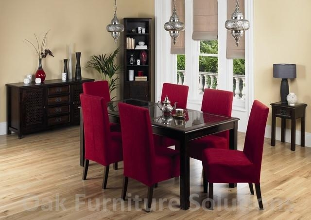 Top 20 red dining table sets dining room ideas for Red dining room table and chairs