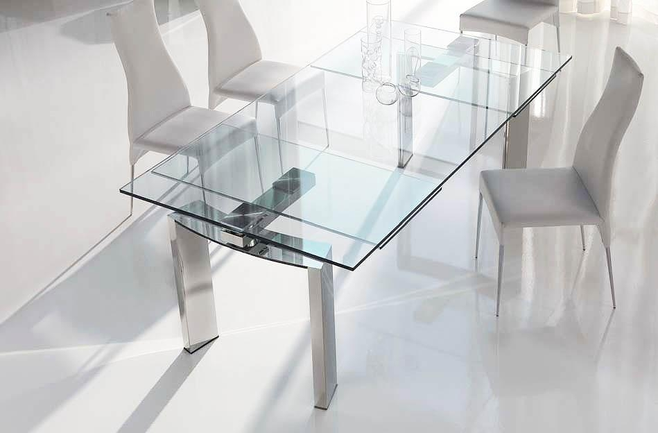 Dining Room: Top 12 Expandable Glass Dining Room Tables | Look For In Extendable Glass Dining Tables (View 12 of 20)