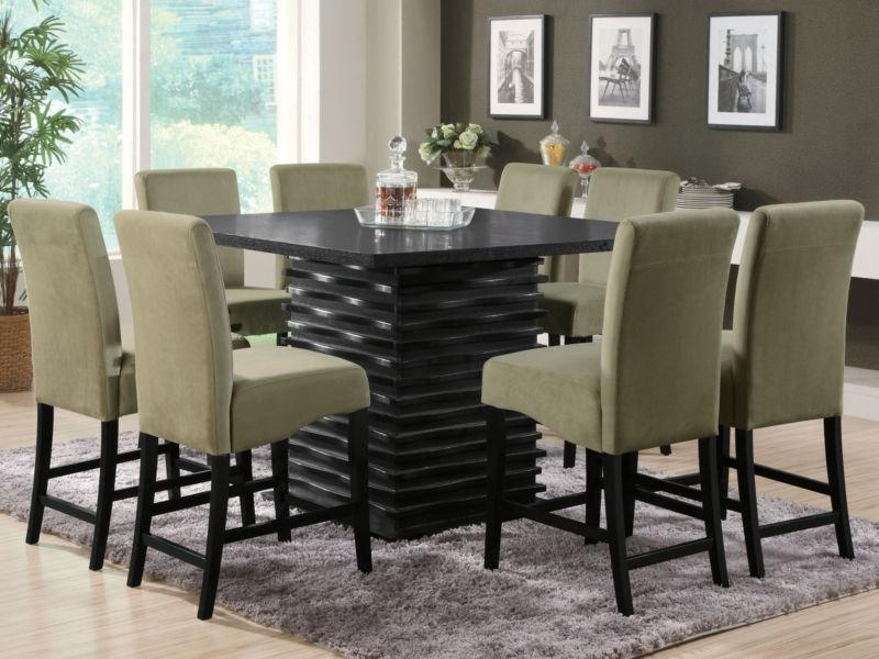 Dining Table, 8 Chair Square Dining Table | Pythonet Home Furniture In 8 Seater Round Dining Table And Chairs (View 6 of 20)