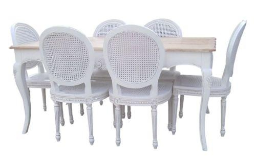 Dining Table And 6 Chairs | Furniture | Ebay Throughout White Dining Tables And 6 Chairs (Image 7 of 20)