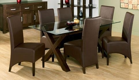 Dining Table And 6 Chairs – Wooden Dining Room Chairs Within Walnut Dining Table And 6 Chairs (Image 8 of 20)