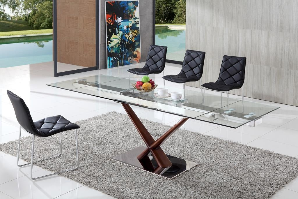 Dining Table And Chairs, Glass Dining Table, Modenza Furniture Intended For Extending Glass Dining Tables And 8 Chairs (Image 9 of 20)