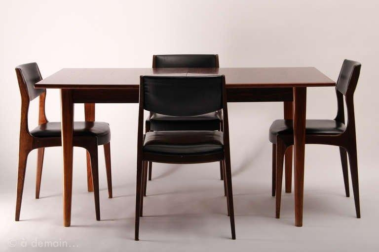 Dining Table And Its Four Chairs, Scandinavian Design From The Regarding Scandinavian Dining Tables And Chairs (View 11 of 20)