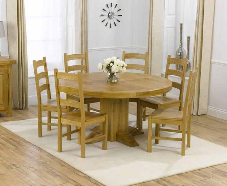 Dining Table For 6 With Round 6 Seater Dining Tables (Image 10 of 20)
