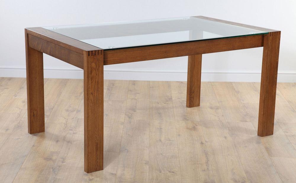 Dining Table Glass And Wood – Lakecountrykeys Pertaining To Glass Oak Dining Tables (Image 7 of 20)
