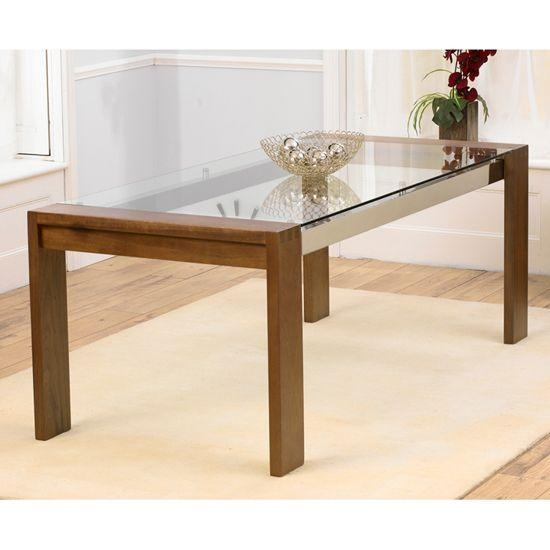 Dining Table, Glass Top Dining Tables With Wood Base | Pythonet Regarding Glass Dining Tables (View 20 of 20)