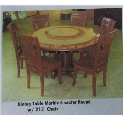Dining Table, Marble, 6 Seater, Round With 215 Chair With 6 Seat Round Dining Tables (Image 10 of 20)