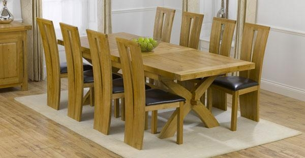 Dining Table Only | White, Pine, Walnut, Oak Dining Table Sale Regarding 8 Seater Oak Dining Tables (Image 11 of 20)