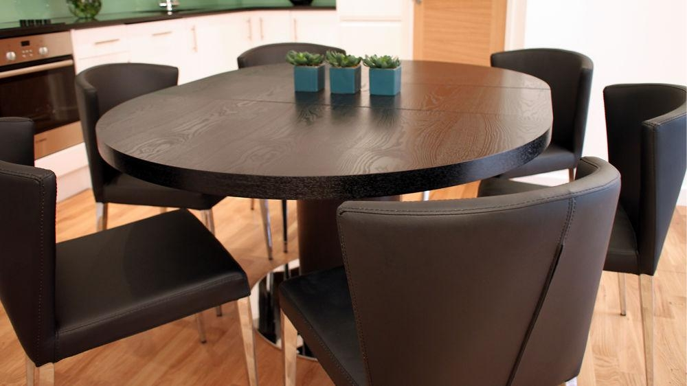 Dining Table Round Expandable Within Black Circular Dining Tables (View 18 of 20)