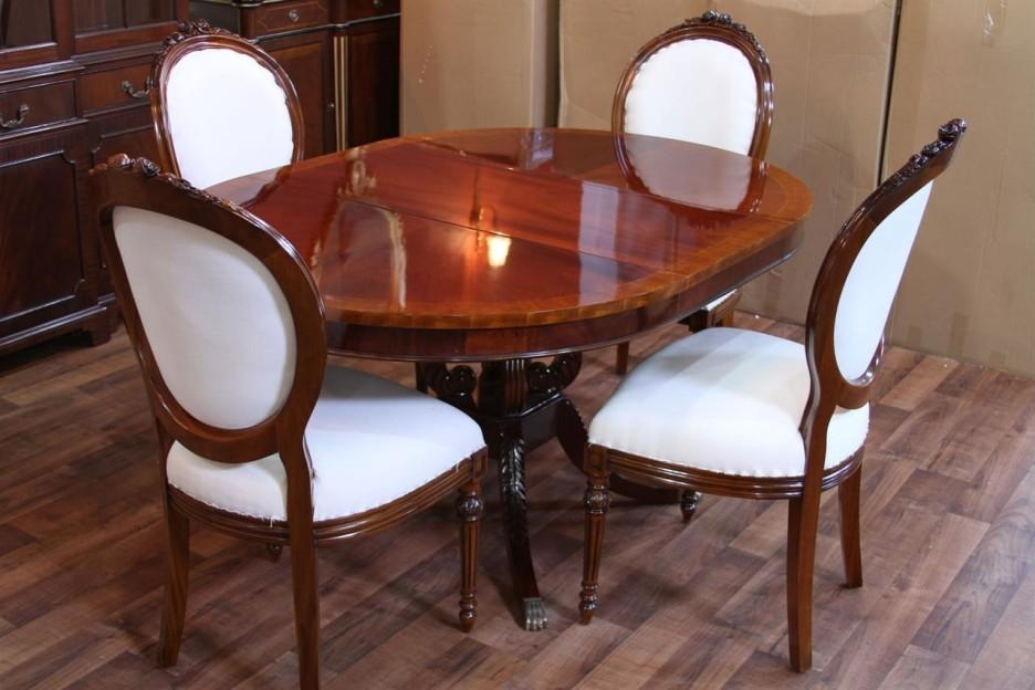 Dining Table, Round Mahogany Dining Table | Pythonet Home Furniture Pertaining To Mahogany Dining Table Sets (Image 7 of 20)