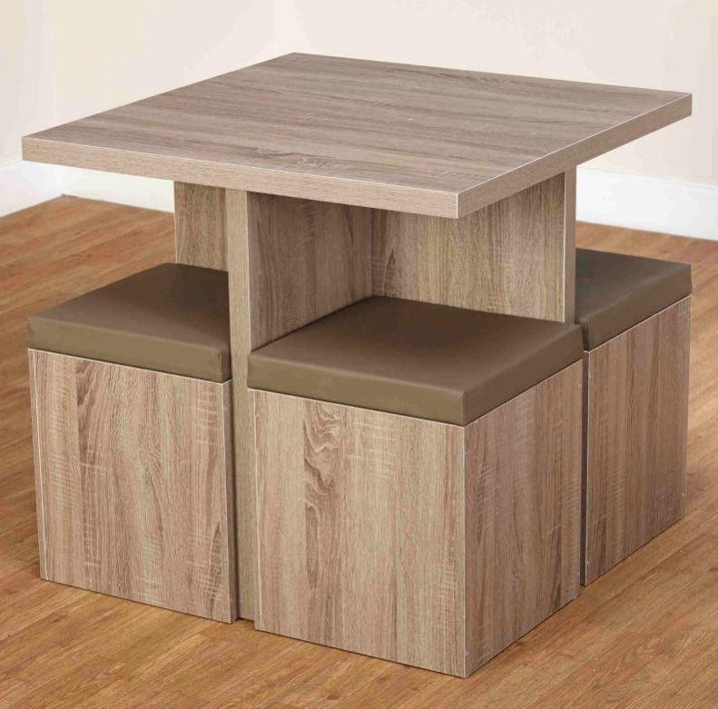 Dining Table Set Compact Small Kitchen Space Saver Chairs Storage With Compact Dining Tables (Image 13 of 20)