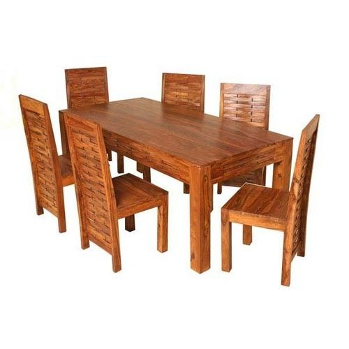 Dining Table Set Suppliers, Traders & Wholesalers With Sheesham Dining Tables And Chairs (Image 6 of 20)