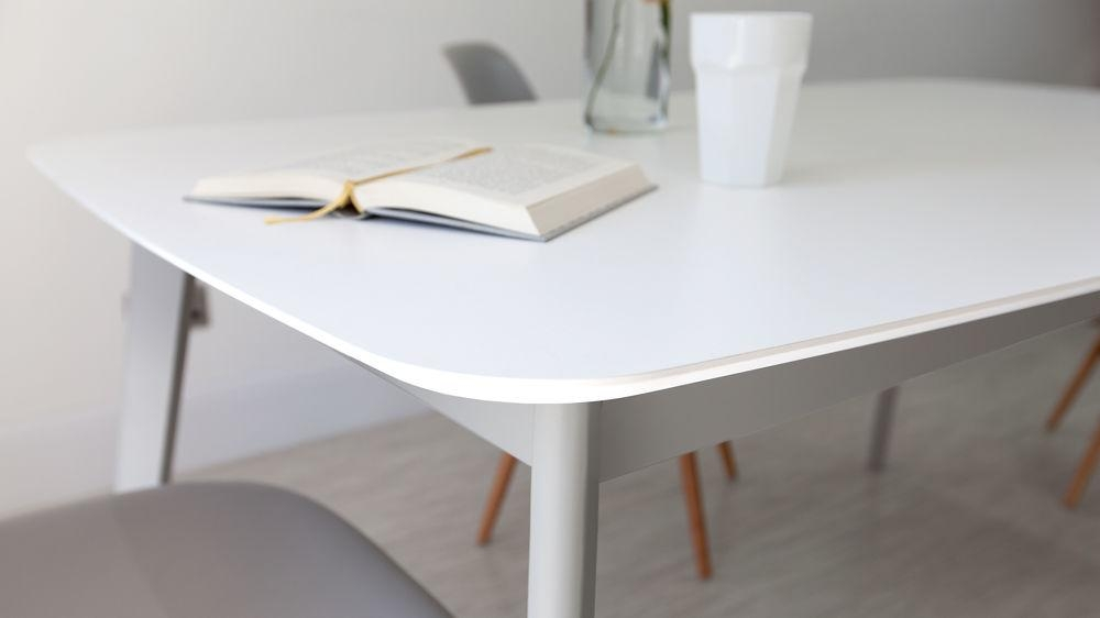 Dining Table, White Extendable Dining Table | Pythonet Home Furniture With Regard To Round White Extendable Dining Tables (Image 8 of 20)