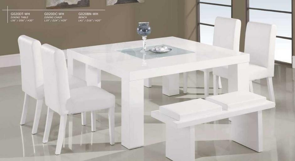 Dining Table, White Square Dining Table | Pythonet Home Furniture Intended For White Square Extending Dining Tables (Image 7 of 20)