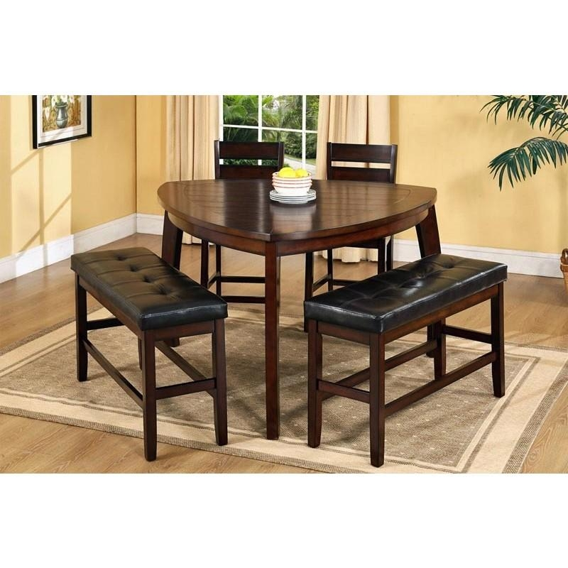 Dining Table With 2 Chairs And Bench Oak Dining Table 2 Or 4 Brown In Dining Tables And 2 Benches (Image 11 of 20)
