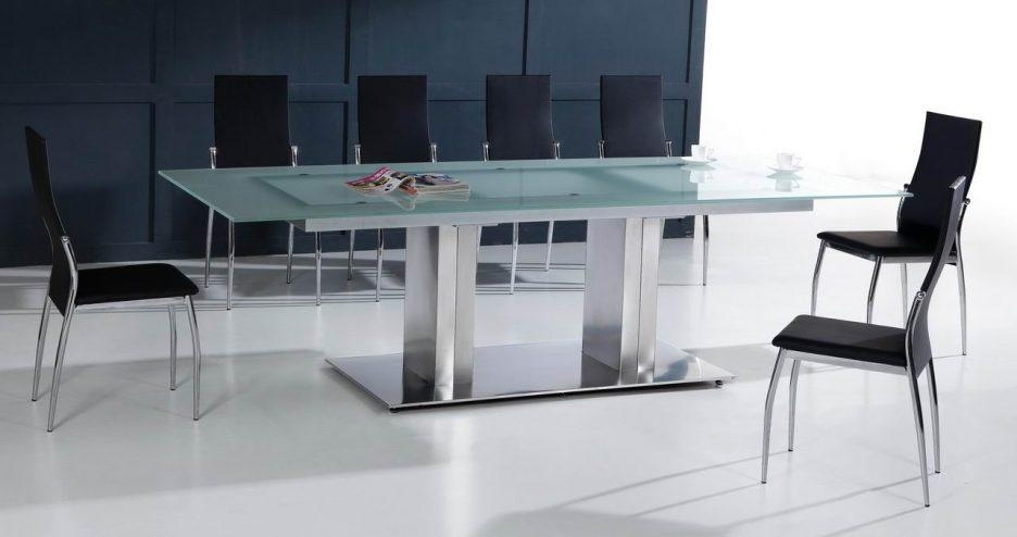 Dining Tables : Dining Table Set 6 Seater Glass Dining Room Tables Pertaining To Glass And Stainless Steel Dining Tables (Image 8 of 20)