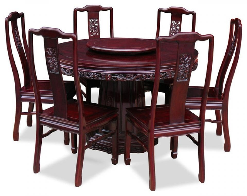 Dining Tables: Elegant Round Dining Table Set For 6 6 Seat Round Pertaining To 6 Chair Dining Table Sets (Image 12 of 20)