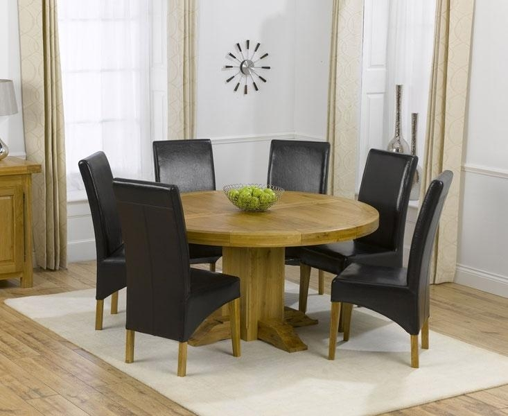 Dining Tables: Elegant Round Dining Table Set For 6 6 Seat Round Pertaining To 6 Seat Round Dining Tables (Image 11 of 20)