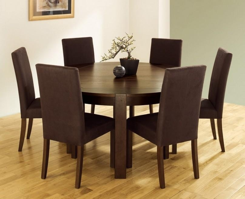 Dining Tables: Elegant Round Dining Table Set For 6 6 Seat Round Regarding 6 Seat Dining Tables And Chairs (View 20 of 20)