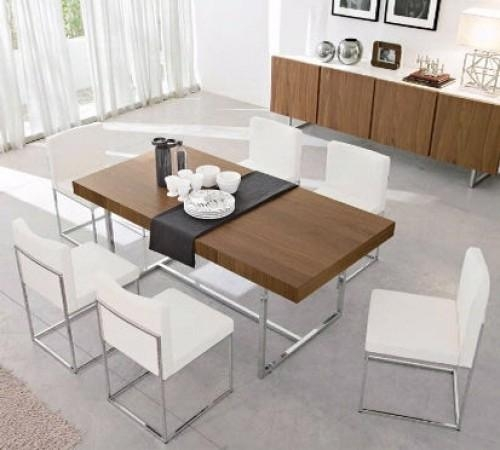 Dining Tables Extending Contemporary Intended For Contemporary Extending Dining Tables (Image 9 of 20)