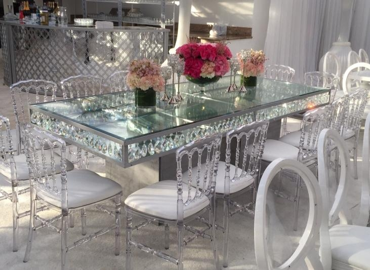 Dining Tables | Palace Party Rental In Mirror Glass Dining Tables (View 7 of 20)