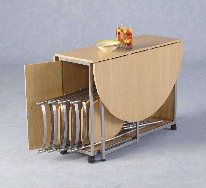 Dining Tables: Remarkable Drop Leaf Dining Table For Small Spaces With Regard To Oval Folding Dining Tables (Image 12 of 20)