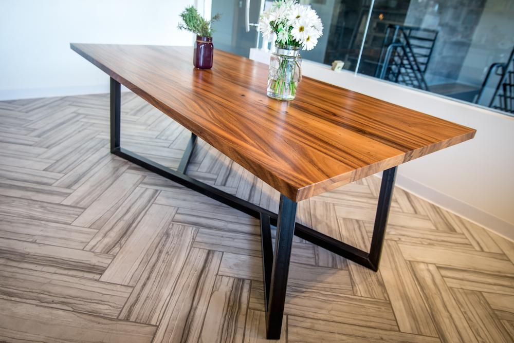 Dining Tables – Satoshi Yamauchi Woodworks Pertaining To Dining Tables With Metal Legs Wood Top (View 2 of 20)