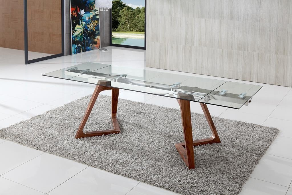 Dining Tables: Unique Glass Dining Table Design Ideas Glass Tables With Wooden Glass Dining Tables (Image 11 of 20)