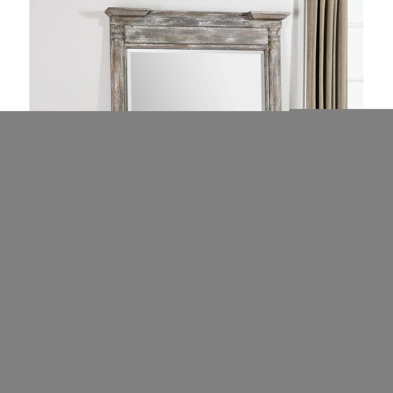 Distressed Cheval Floor Mirror | Floor Decoration In Shabby Chic Long Mirror (Image 10 of 20)