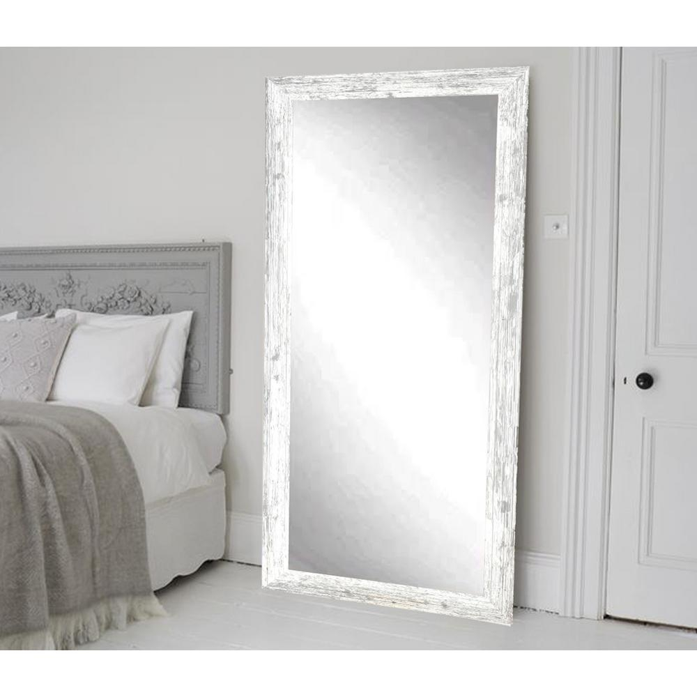 Distressed White Barnwood Full Length Floor Wall Mirror Bm032T With Regard To Distressed Silver Mirror (View 11 of 20)