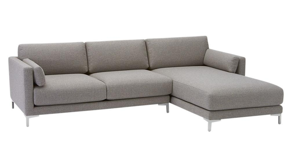 District 2 Piece Sectional Sofa | Cb2 In 2 Piece Sectional Sofas (View 10 of 20)