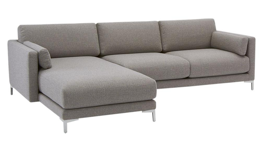 District 2 Piece Sectional With Chaise | Cb2 With Regard To 2 Piece Sectional Sofas (Image 14 of 20)