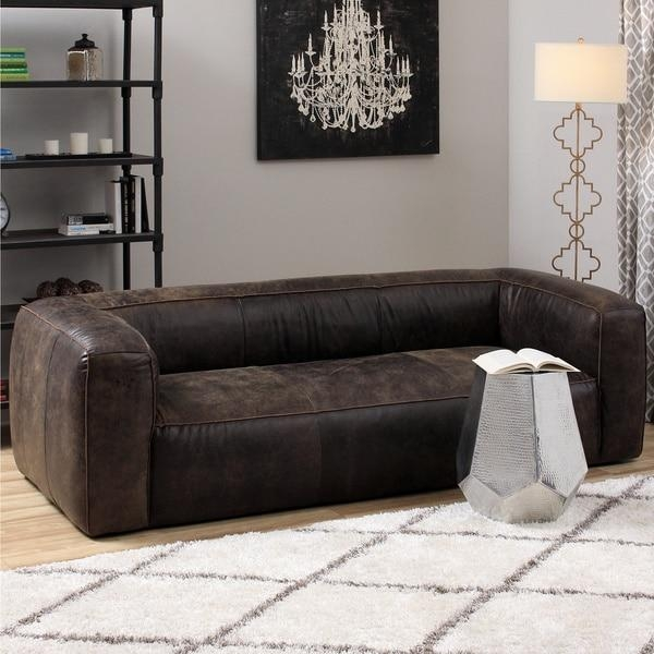 Diva Outback Bridle Dark Brown Leather Sofa – Free Shipping Today Pertaining To Bomber Jacket Leather Sofas (View 15 of 20)