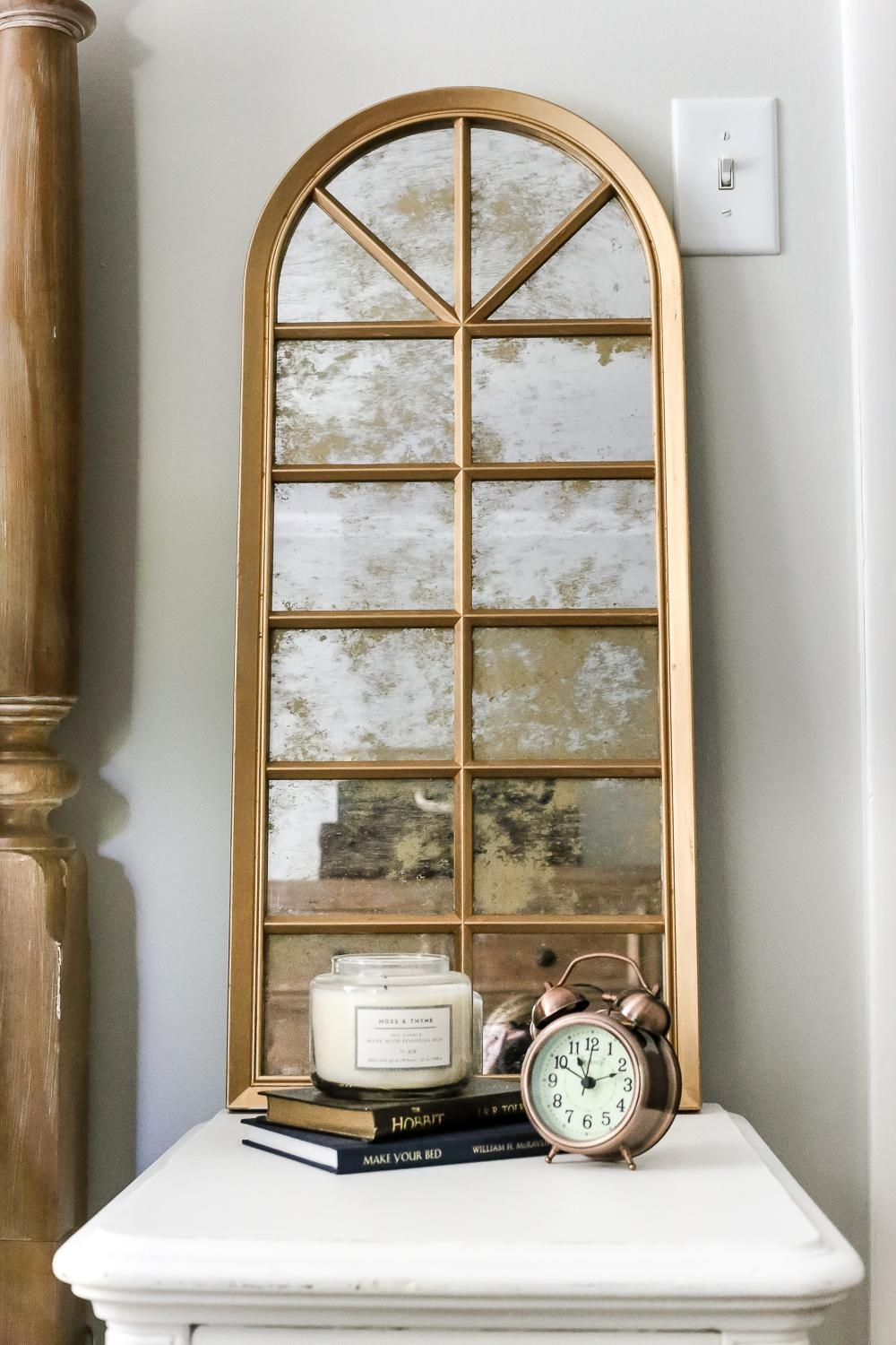 Diy Aged Gold Antique Mirror Makeover – Bless'er House Intended For Gold Antique Mirror (View 16 of 20)