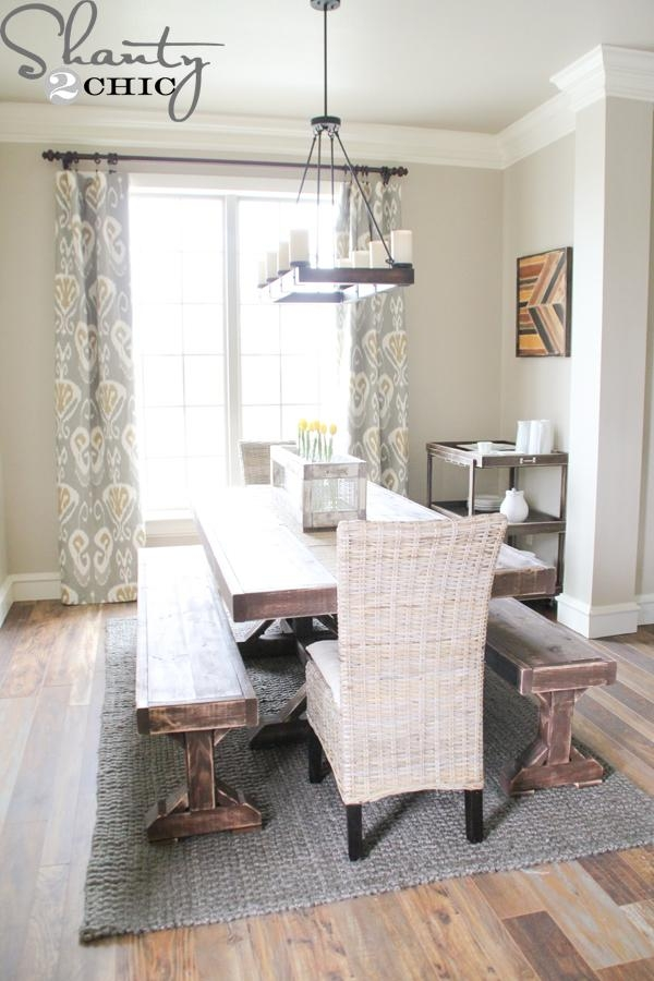 Diy Benches For My Dining Table – Shanty 2 Chic Inside Dining Tables And 2 Benches (View 9 of 20)